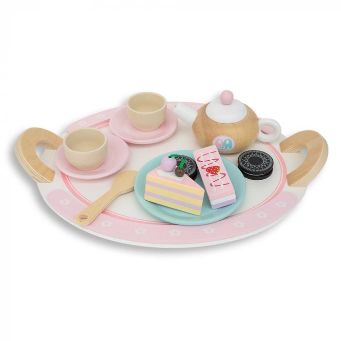 Set de dulciuri și ceai din lemn -12 piese 1