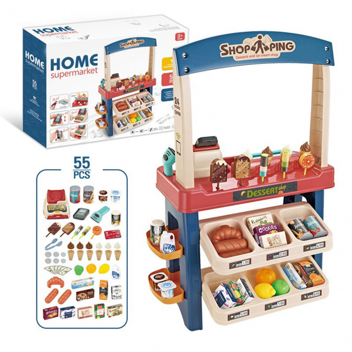 Set de joaca - magazinul de inghetata - 55 piese 0