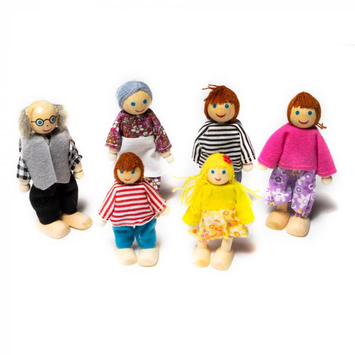 Set figurine din lemn - familia 0