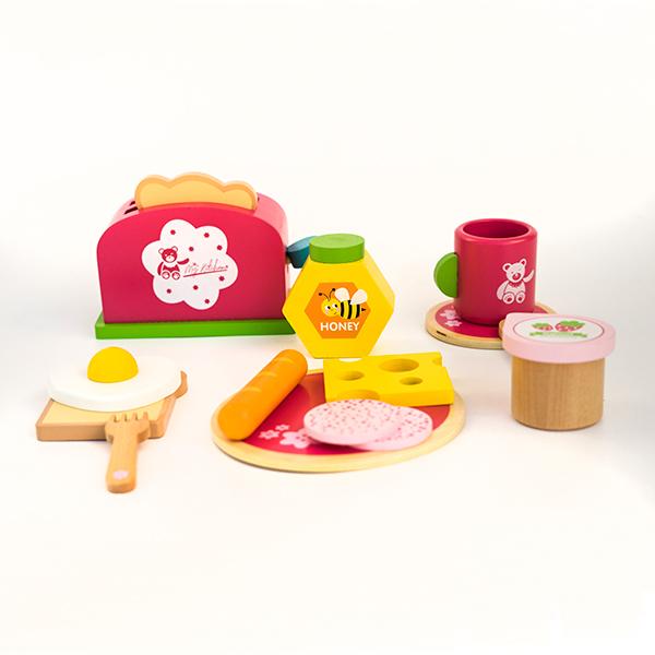 Set pentru micul dejun din lemn -15 piese 1
