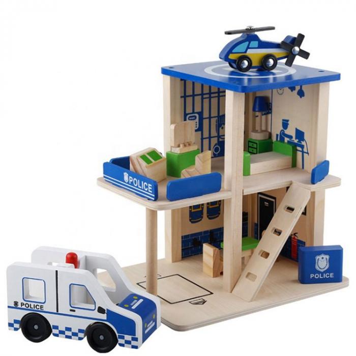 Statie de politie cu accesorii - jucarie de rol 0