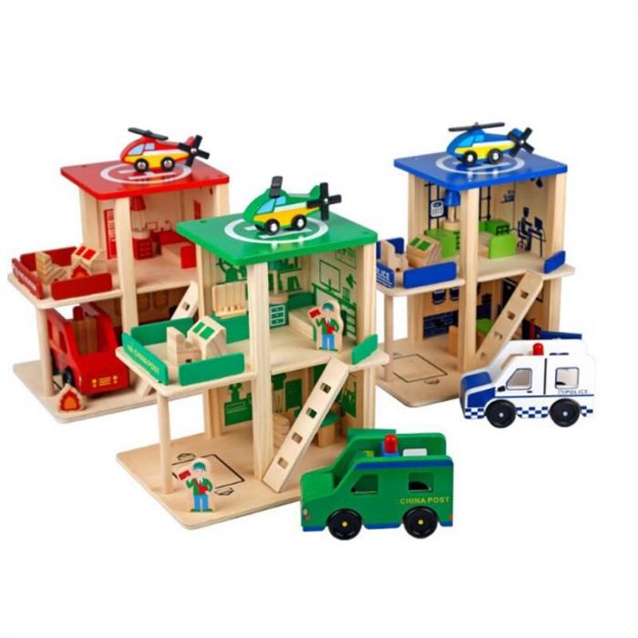 Statie de pompieri cu accesorii - jucarie de rol 4