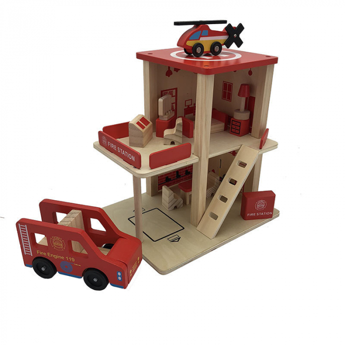 Statie de pompieri cu accesorii - jucarie de rol 0