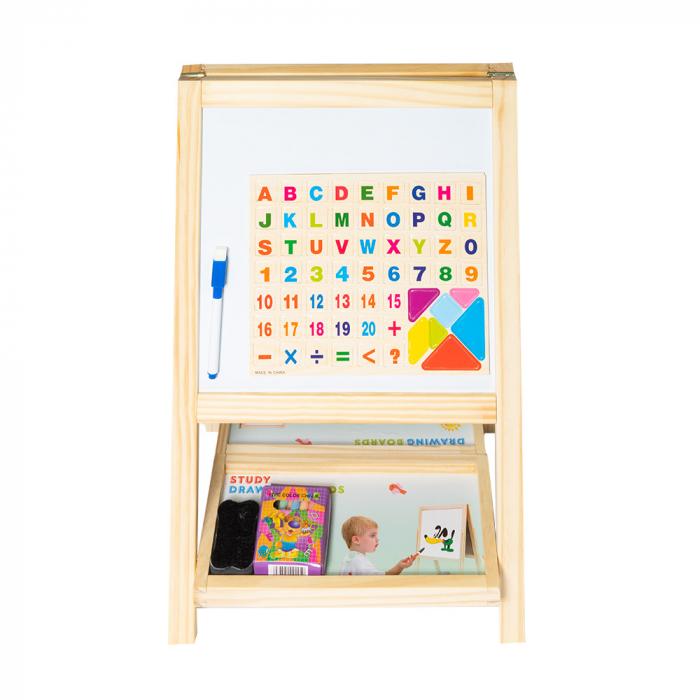 Tabla magnetica multifunctionala din lemn cu accesorii 0