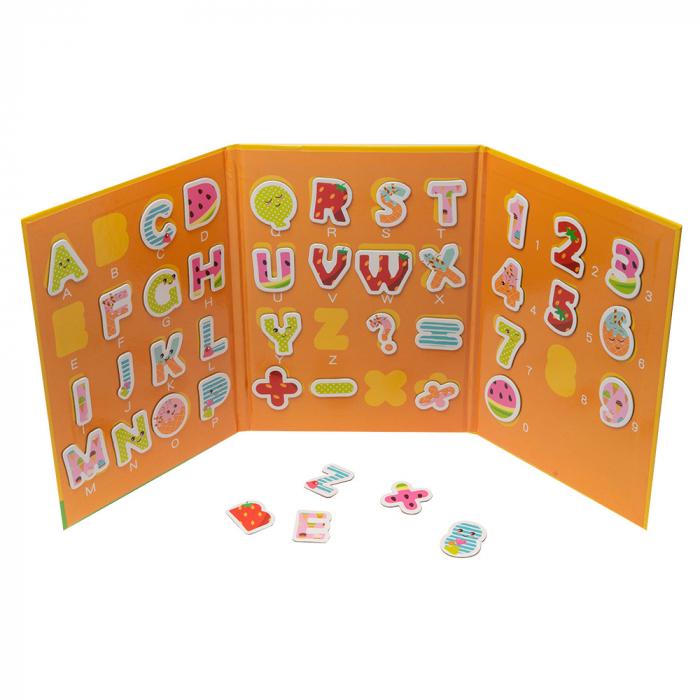 Carte educativa cu tabla si caractere magnetice din lemn [1]