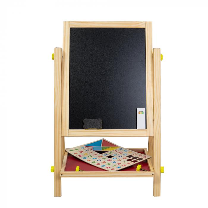Tabla magnetica multifunctionala din lemn cu accesorii [1]