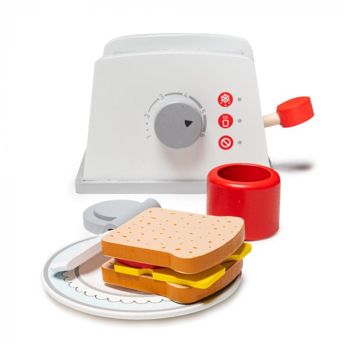 Toaster din lemn cu accesorii 0