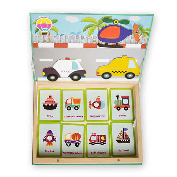 Carte magnetica cu carduri si puzzle - peisaj urban 2