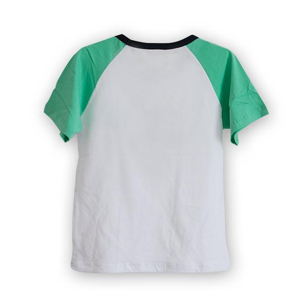 Tricou alb cu guler contrastant [4]