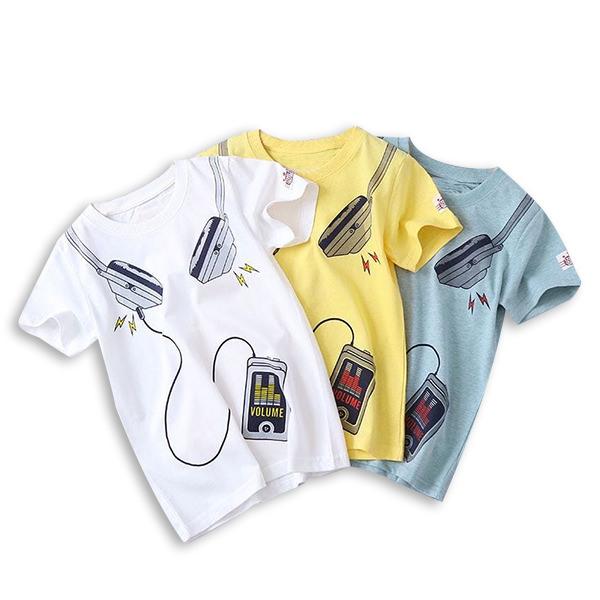 Tricou galben cu imprimeu [4]
