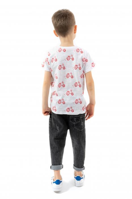Tricou alb cu imprimeu rosu [2]