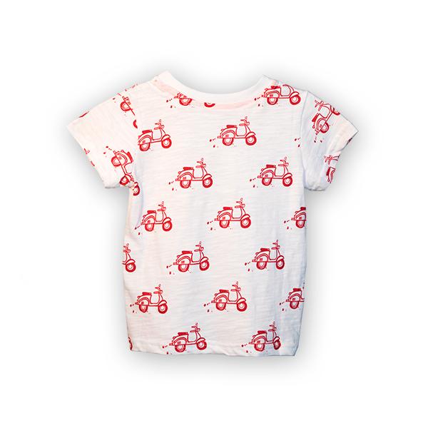Tricou alb cu imprimeu rosu [4]