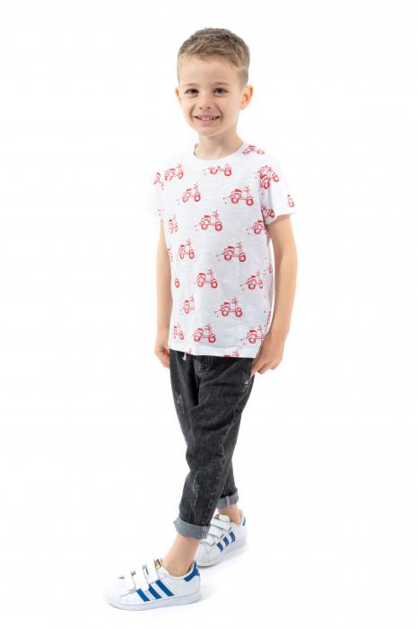 Tricou alb cu imprimeu rosu [0]