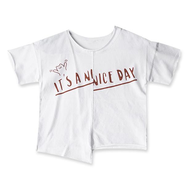 Tricou alb cu text 3