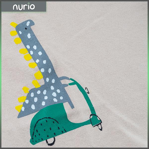 Tricou bej cu imprimeu dinozaur 6