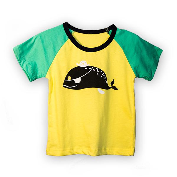 Tricou galben cu guler contrastant 3