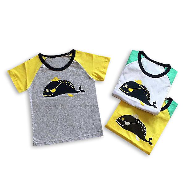 Tricou galben cu guler contrastant 5
