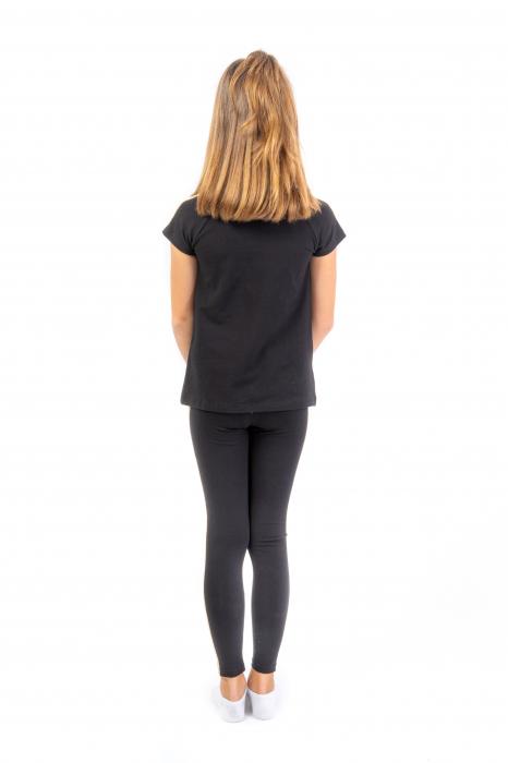 Tricou negru cu imprimeu [3]