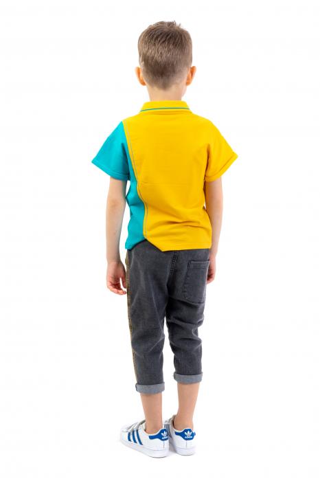 Tricou polo cu buline colorate [2]