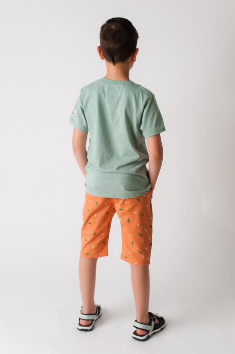 Tricou verde cu imprimeu [3]