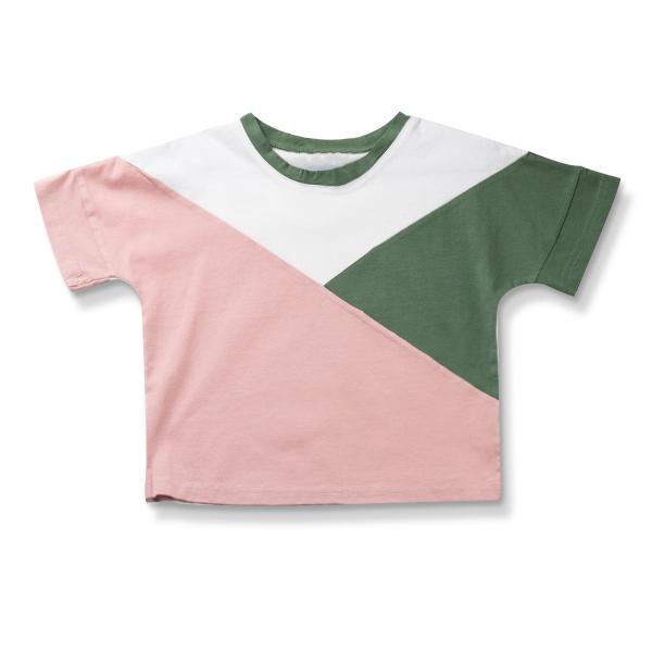 Tricou colorat cu maneca scurta 0
