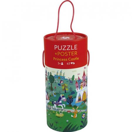 """Puzzle 63 piese """"Castelul prințesei"""" în cutie cilindrică0"""