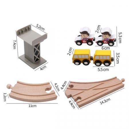 Set trenulet cu cale ferata-blocuri de construcție-scenă de trafic urban feroviar-80 piese5