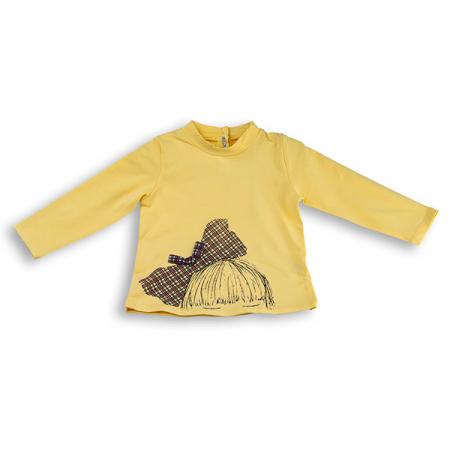 Bluza cu imprimeu fundita pentru fete0