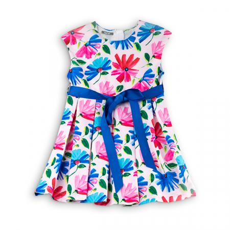 Rochie cu flori albastre si roz0