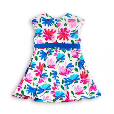 Rochie cu flori albastre si roz1