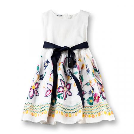 Rochie cu flori brodate0