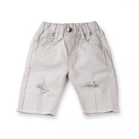 Pantaloni trei sferturi gri0