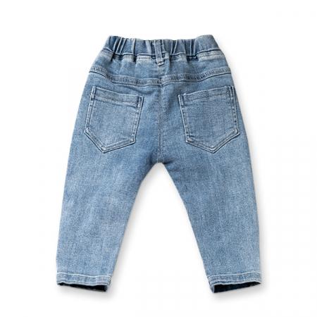 Pantaloni denim cu detaliu mignon1