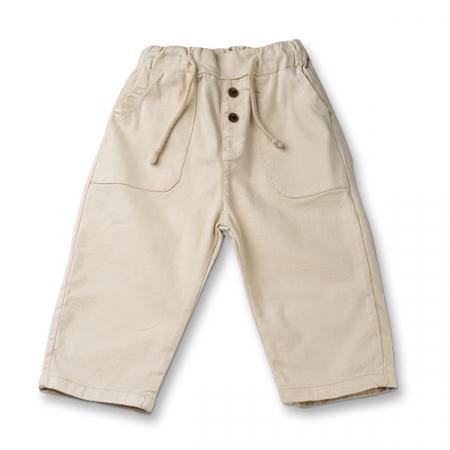 Pantaloni in ivoire cu snur  baieti0