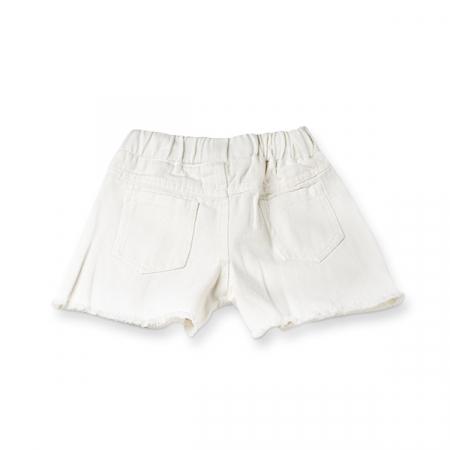 Pantaloni scurti de blugi albi cu paiete1