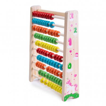 Abac din lemn cu bile colorate1