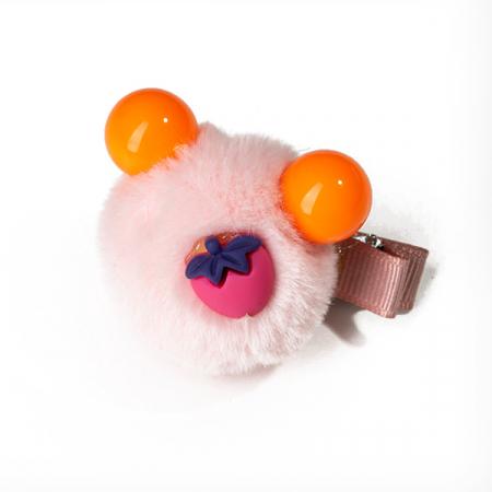 Agrafa par roz  tip ursulet din blanita si capsuna0
