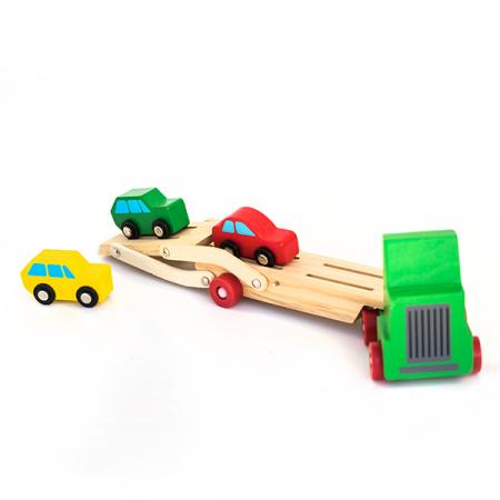 Camion cu etaj pentru transport autoturisme din lemn [2]