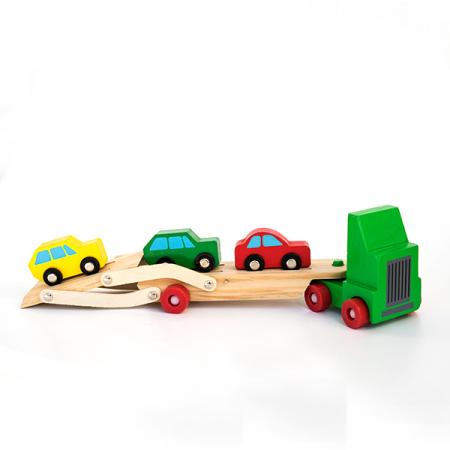 Camion cu etaj pentru transport autoturisme din lemn [1]