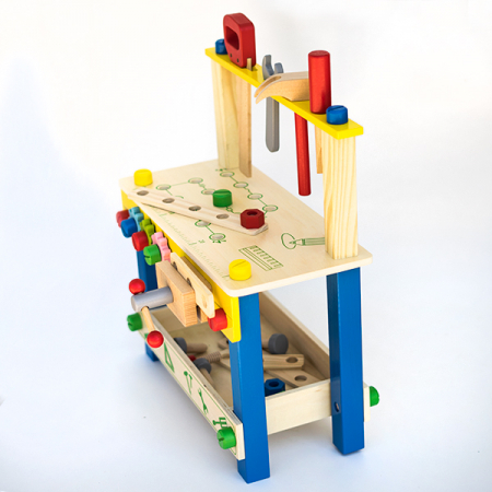 Banc de lucru multifunctional cu 48  piese din lemn2