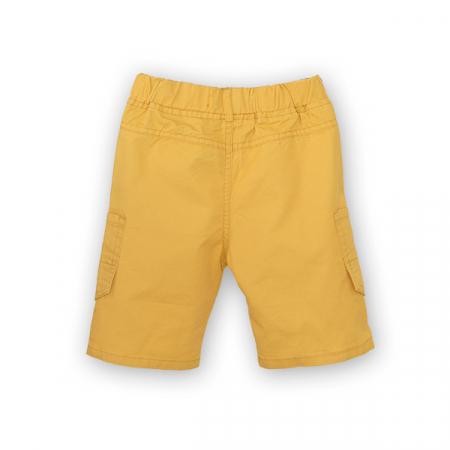 Bermude cu buzunare laterale culoare galben [1]