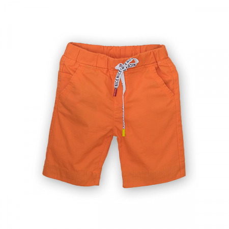 Bermude din bumbac culoare portocaliu0