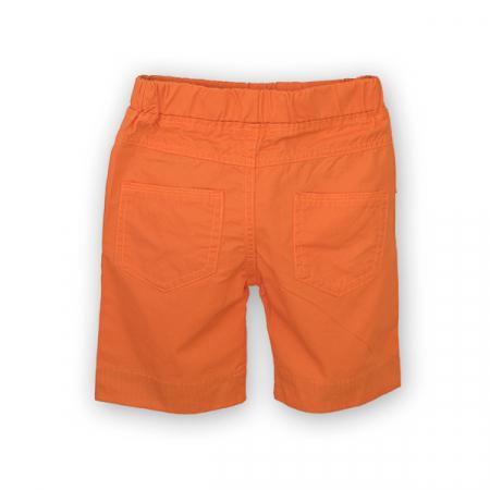 Bermude din bumbac culoare portocaliu1