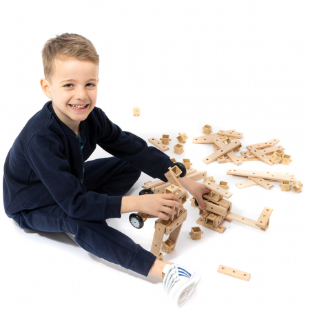 Blocuri construcție din lemn - 80 piese [0]