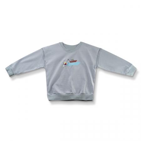 Bluza cu imprimeu vapor culoare albastru0