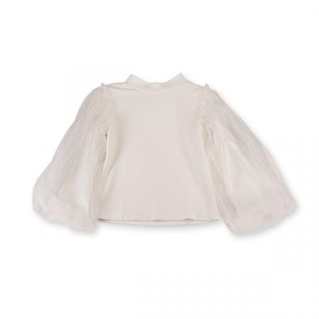 Bluza eleganta alba cu tulle1
