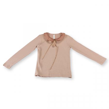 Bluza eleganta bej cu paiete4