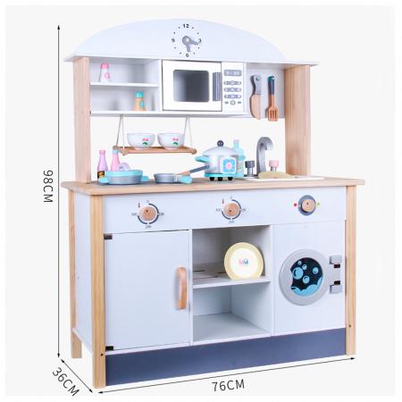 Bucatarie multifunctionala din lemn pentru copii cu accesorii [2]