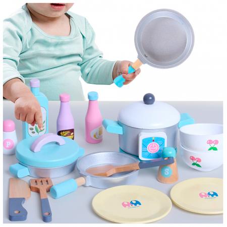 Bucatarie multifunctionala din lemn pentru copii cu accesorii [3]