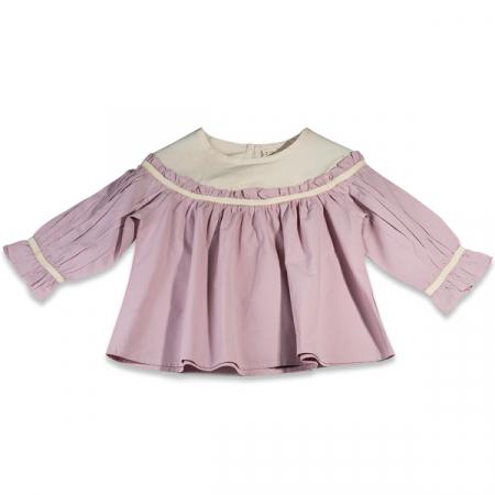 Camasa eleganta fete ivoire si roz0